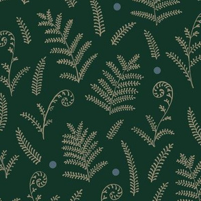 Ferns Pattern with Dots