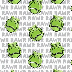 Trex - grey RAWR - Dinosaur  - Tyrannosaurus LAD19