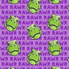 Trex - Purple RAWR - Dinosaur  - Tyrannosaurus LAD19