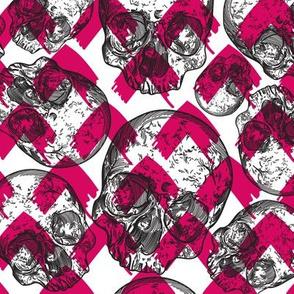 Cute Emo Punk Skull Pattern