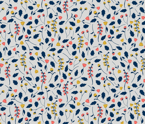 Garden Party fabric by hectic_eclectic on Spoonflower - custom fabric