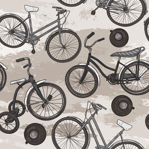 Old Timey Bicycle Pattern