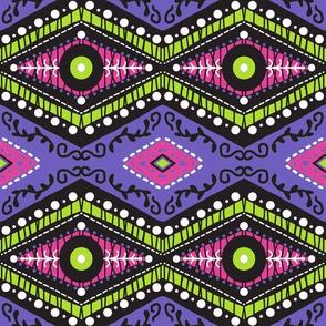 Diamond Reverie / purple pink black