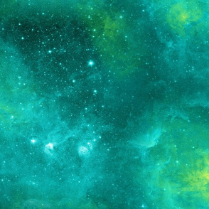MAGIC FOREST COORDINATE BACKGROUND vertical aqua emerald nebula