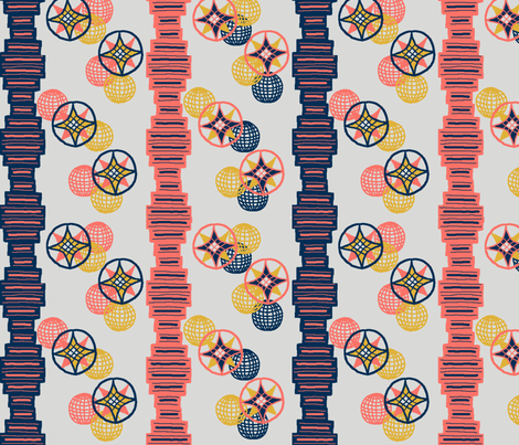 SF challenge - Coral v2 fabric by flora_grace on Spoonflower - custom fabric