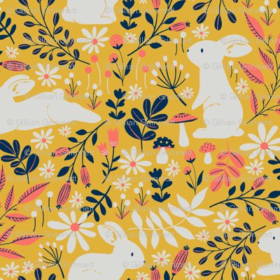 Spring Bunnies - Limited Color Palette