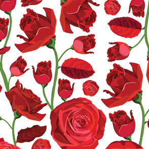 Red Rose Pattern No.1
