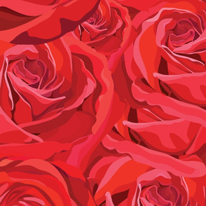 Red Rose Pattern No.2
