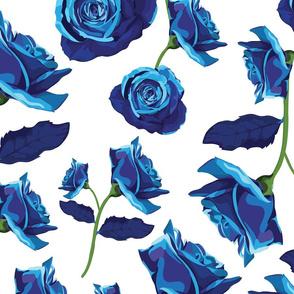 Blue Rose Pattern No.1