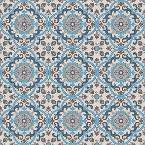 Medieval tile blue