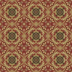 Medieval tile red
