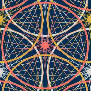 08435303 : wheel 3 : coral + goldenrod