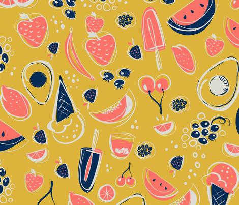 Summer Food fabric by reneeciufo on Spoonflower - custom fabric