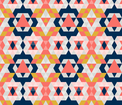Moroccan Coral Limited Color Palette fabric by lucy_&_me on Spoonflower - custom fabric