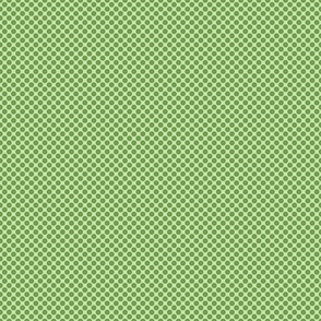 Green dots with character