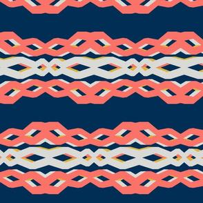 2019 pantone coral - lattice links - macro