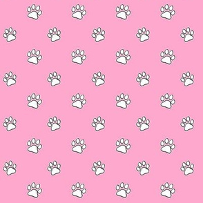 Paws Outline Pink