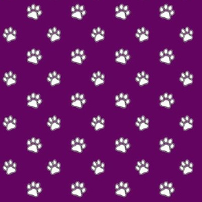 Paws Outline Purple
