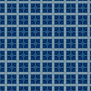 F-Blue Denim Square