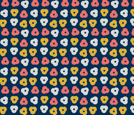 coral flowers fabric by alandco on Spoonflower - custom fabric