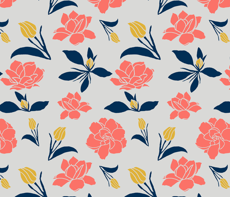 Gardenia Limited (300) fabric by fade-into_nature on Spoonflower - custom fabric