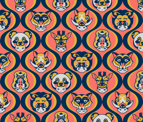 023_animal_headshot_spoonflower fabric by kakesstudio on Spoonflower - custom fabric