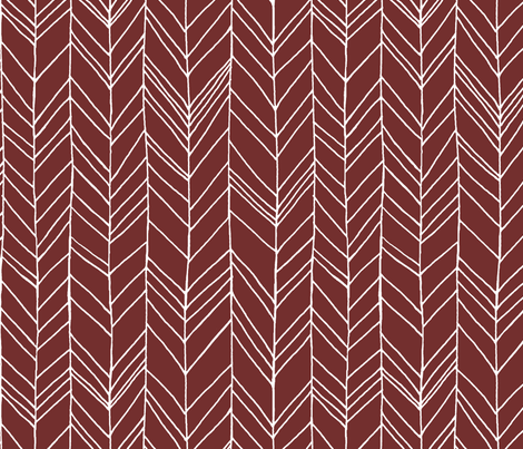 Featherland Burgundy White Large fabric by leanne on Spoonflower - custom fabric