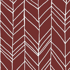 Featherland Burgundy White Large