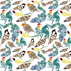 Thanks Typography National Birds