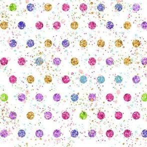 Glitter confetti dots