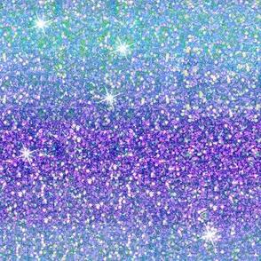 Purple/Aqua  ombre glitter