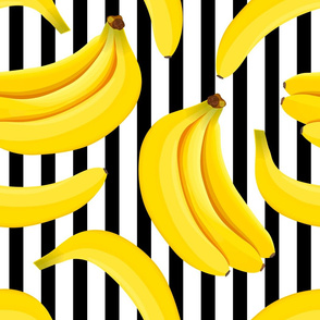 banana pattern black lines