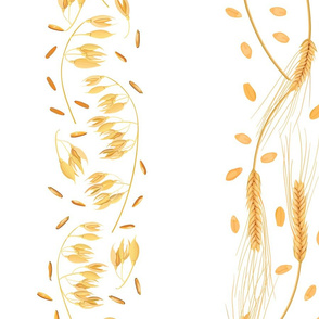 wheat and oat pattern stripes