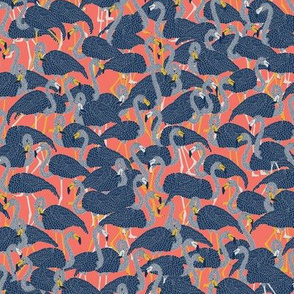 Island Flamingos on Coral - Small
