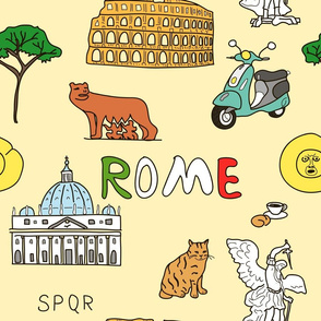 rome pattern in color
