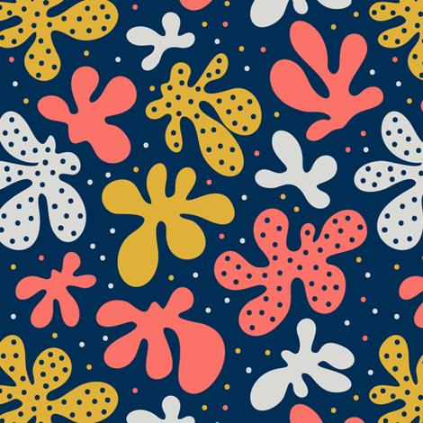 Coral flowers fabric by kancerina on Spoonflower - custom fabric