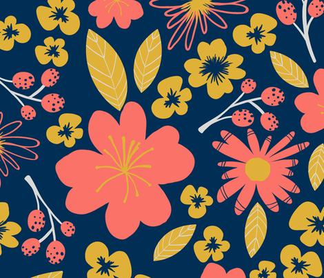 coralfloral fabric by villavanilla on Spoonflower - custom fabric