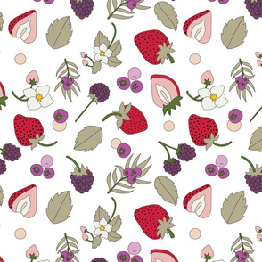 Very Berry on White