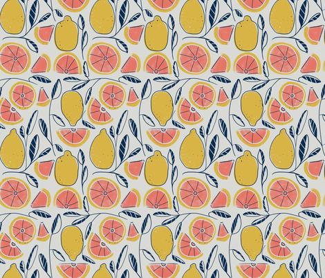 Lemony grapefruits fabric by copapod on Spoonflower - custom fabric