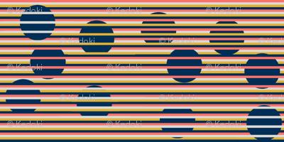 4 Color Optical Illusion Circles and Stripes by kedoki