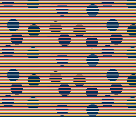 4 Color Optical Illusion Circles and Stripes by kedoki fabric by kedoki on Spoonflower - custom fabric