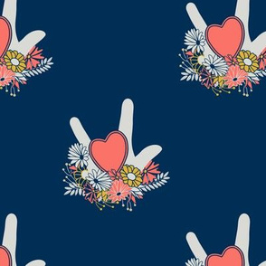 ASL Hearts and Flowers