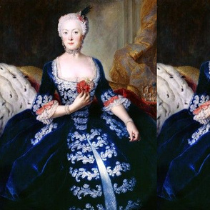 spoonflower Koningin_elisabeth_christine biggest wiki dark blue white