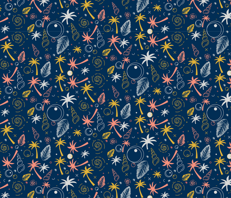 under the water by the beach 2-01 fabric by justrightdesigns on Spoonflower - custom fabric