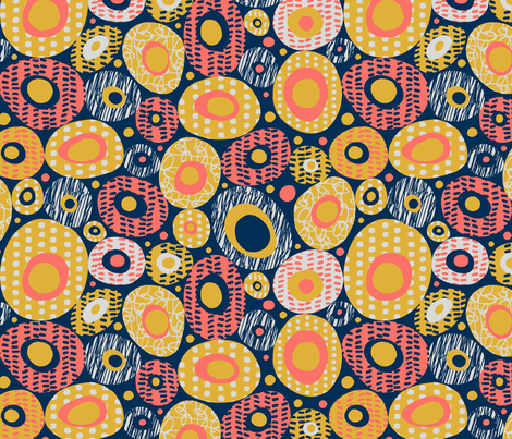 Patterned Pebbles fabric by twohanddesign on Spoonflower - custom fabric