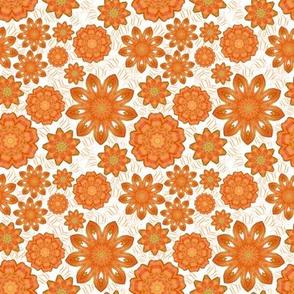 Orange Snake Skin Flowers