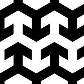 08441318 : arrow zigzag : black + white