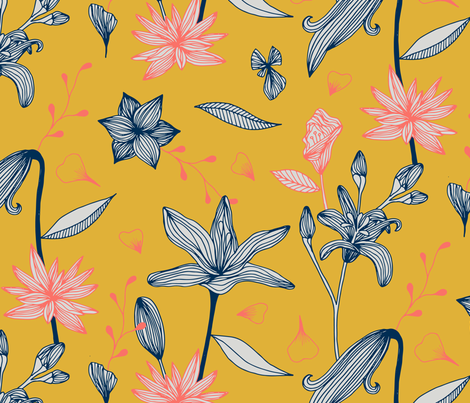 Gilding the Lily fabric by seesawboomerang on Spoonflower - custom fabric