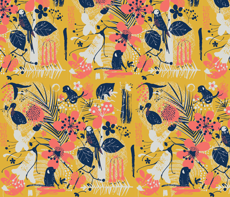 bright tropical fabric by samrudddesign on Spoonflower - custom fabric