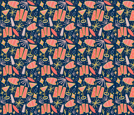 Cocktails in the 50s fabric by silkinson on Spoonflower - custom fabric